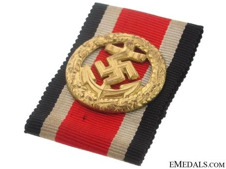 Honour Roll Clasp, Kriegsmarine/Navy Reverse