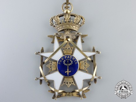 II Class Knight Grand Cross (with silver gilt) Reverse