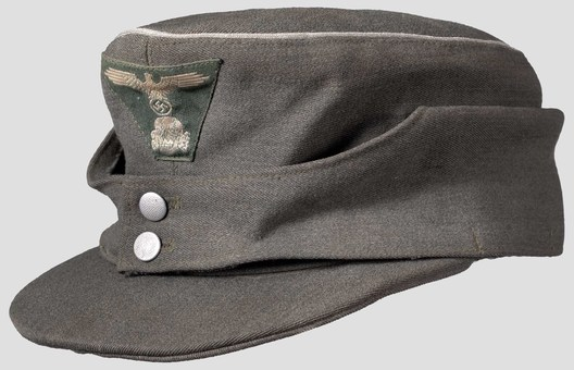 Waffen-SS Officer's Visored Field Cap M43 (silver piped version) Profile
