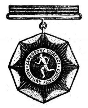 Decoration for Meritorious Activists of Physical Culture, II Class (1985-1987) Obverse