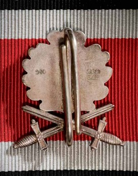 Oak Leaves with Swords to the Knight's Cross of the Iron Cross (by Godet, L/50) Reverse