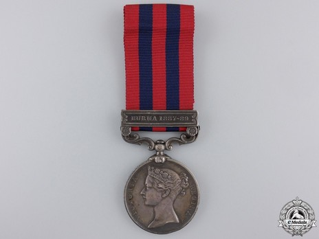 """Silver Medal (with """"BURMA 1887-89"""" clasp) Obverse"""