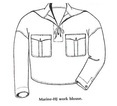 Naval HJ Work Blouse Obverse