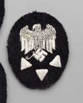 Kriegsmarine Officials' High Career Technical Service Insignia Obverse