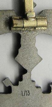 Submarine War Badge, by P. Meybauer (in zinc) Detail