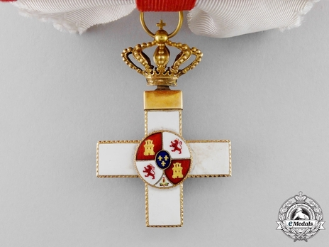 4th Class Grand Cross (white distinction) (with Fleur of Lys and Royal Crown) Obverse