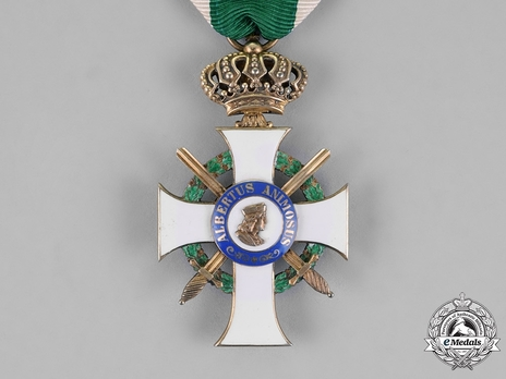 Albert Order, Type II, Military Division, I Class Knight (with crown & swords, in silver gilt, 1901-1918)