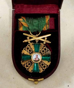Order of the Zahringer Lion, Knight I Class w Swords on Ring, Andreas Thies, Obv