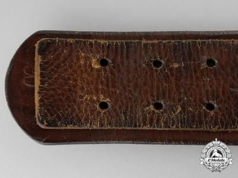 Kriegsmarine NCO/EM Belt Strap (Leather version) Reverse