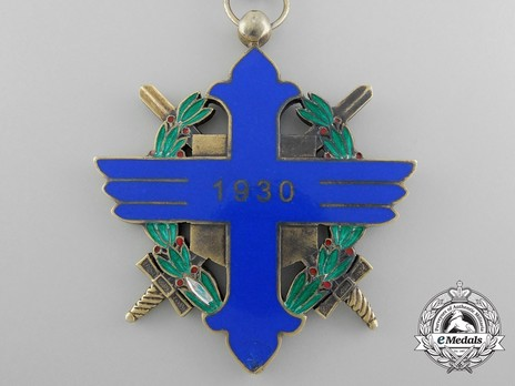 Order of Aeronautical Virtue, Type I, Military Division, Commander's Cross Reverse