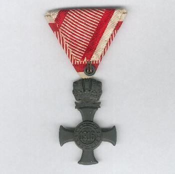Type III, Iron Cross (with crown, in zinc) Reverse