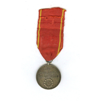 Long Service Decoration, III Class Medal for 9 Years (1913-1918) (in silver) Reverse