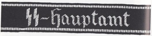 Allgemeine SS Main Office Cuff Title (2nd pattern) Obverse