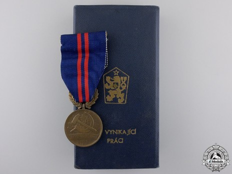 Bronze Medal (1960-1989) and Case of Issue Obverse