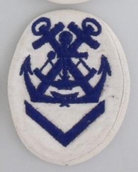 Kriegsmarine Obermaat Navigating Helmsman Insignia (embroidered) Obverse