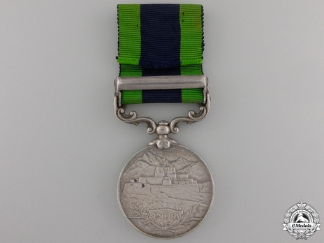 "Silver Medal (with ""NORTH WEST FRONTIER 1908"" clasp) Reverse"