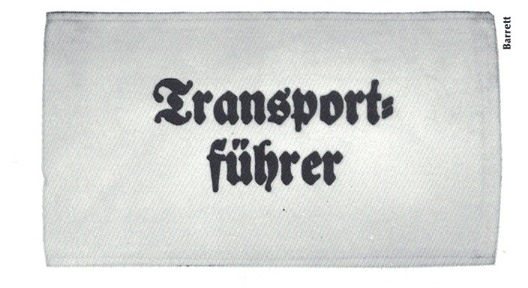 German Army Transport Leader Armband Obverse