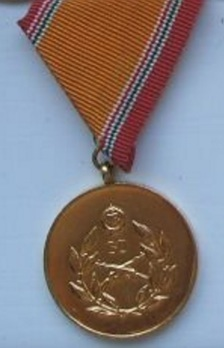 National Defence Long Service Medal, III Class Medal for 30 Years Obverse