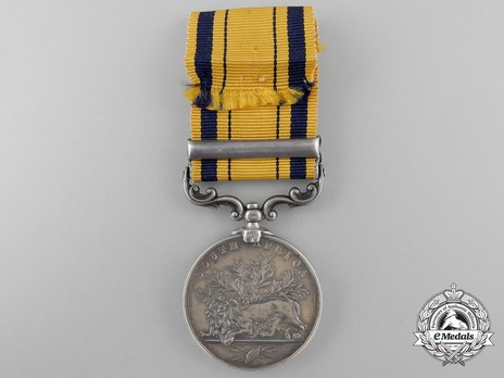 "Silver Medal (with ""1879"" clasp) Reverse"