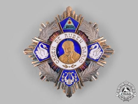 Order of Ruben Darío, Grand Cross Breast Star