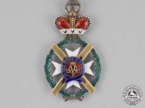 Order of the Cross of Takovo, Civil Division, I Class Obverse