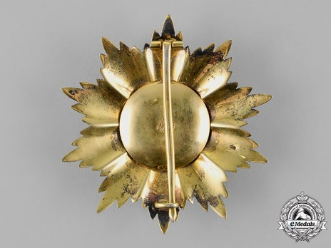 High Order of Sayyid Muhammad ibn Ali al-Sanussi, Grand Cordon Breast Star Reverse