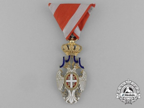 Order of the White Eagle, Type II, Civil Division, IV Class Obverse