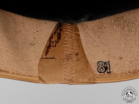 German Army NCO/EM Panzer Beret (with white insignia) Sweatband Detail