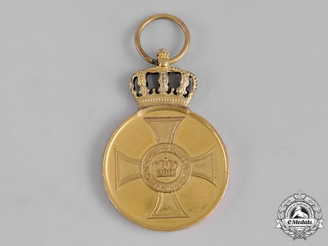 Order of the Crown, Civil Division, Type II, Gold Medal Reverse