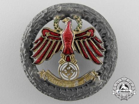 Tyrolean Marksmanship 6 Years of Gau Champion Shooter Badge (small version) Obverse