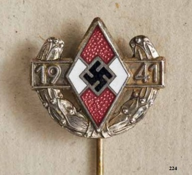 Championship Pin of the Reich Youth Leader, in Silver Obverse