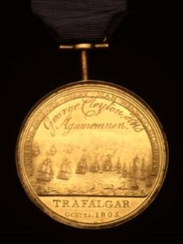 Boulton's Trafalgar Medal, in Tin Reverse