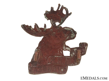 4th Mounted Rifle Battalion Other Ranks Cap Badge Reverse
