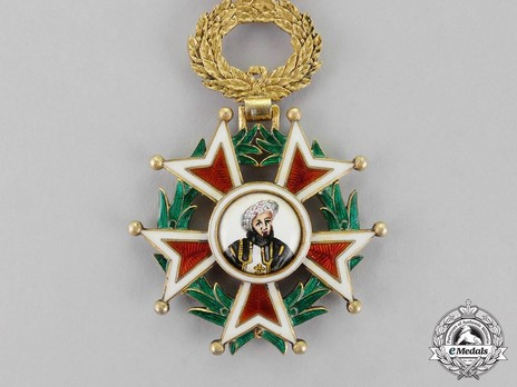 Order of the Brilliant Star of Zanzibar, Type IV, V Class Knight (with portrait) Obverse
