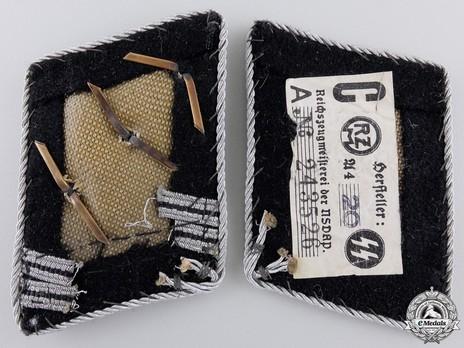 Waffen-SS Hauptsturmführer Collar Tabs Reverse