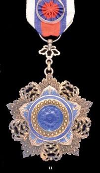 Order of the Brilliant Jade, VI Class Officer