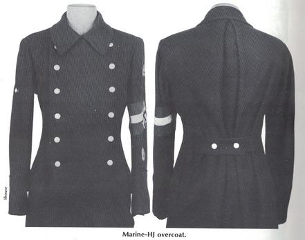 Naval HJ Overcoat Obverse & Reverse