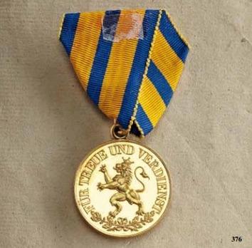 Schwarzburg Duchy Honour Cross, Civil Division, Gold Medal (1866-1918)