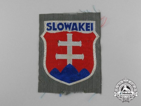 German Army Slovakia Sleeve Insignia Obverse