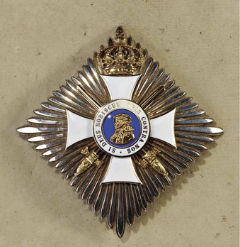 Order of Philip the Magnanimous, Type II, Commander Breast Star with Swords (with crown)