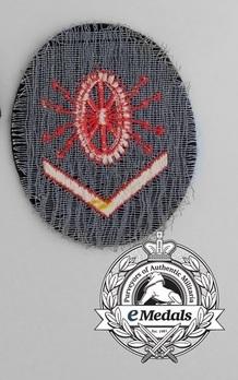 Kriegsmarine Electric Technics Course Grade III Insignia Type II Reverse
