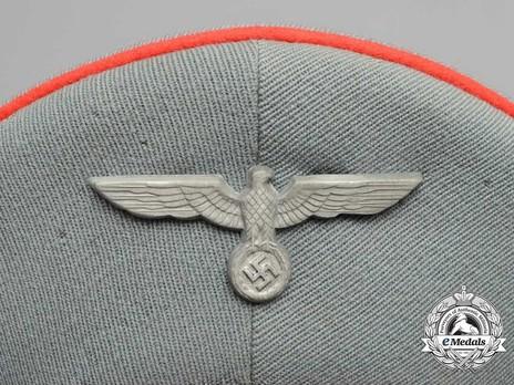 German Army Artillery & Ordnance NCO/EM's Visor Cap Eagle Detail