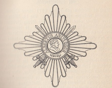 I Class Commander Breast Star (with swords 1866-1876)