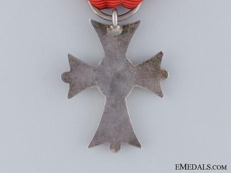 Dukely Order of Henry the Lion, II Class Merit Cross Reverse