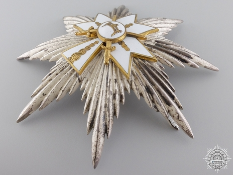 Grand Cross Breast Star (with swords) Reverse