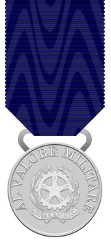 Silver MedalMedal of Military Valour, in Silver Obverse