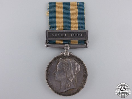 "Silver Medal (with ""TOSKI 1889"" clasp) Obverse"
