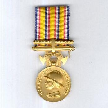 """Gilt Medal (for Long Service, stamped """"1935 L BAZOR,"""" 1935-) Obverse"""