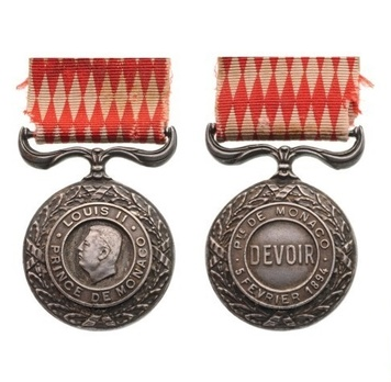 II Class Medal (1925-1952) Obverse and Reverse