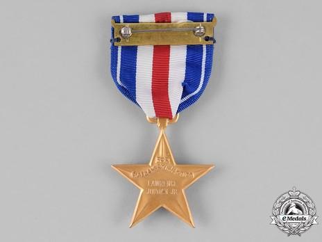 Silver Star (Engraved) Reverse